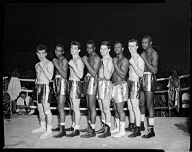 1950's amateur boxers of different backgrounds