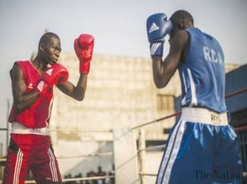 African boxing competitors