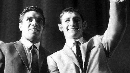 Lionel Rose and Johnny Famechon