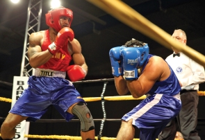 Military amateur boxing bout