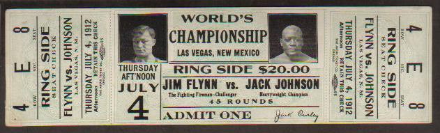Jim Flynn/Jack Johnson Ticket