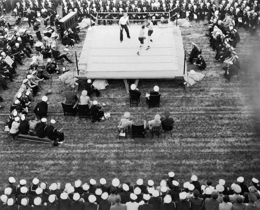 Outdoor boxing bout