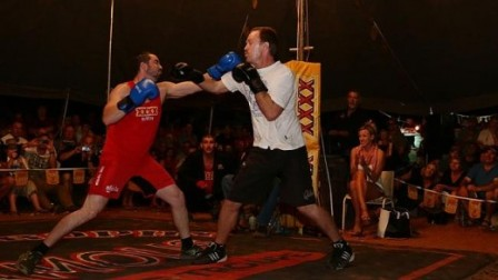 Australian Tent Boxing competitors