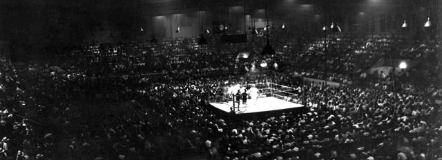 BFC C1975 Boxing ring centered in Coliseum. Circa 1930