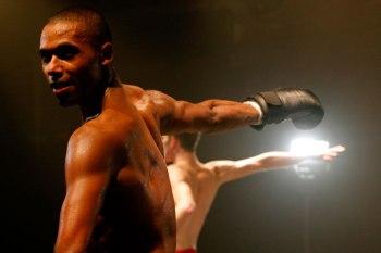 Ballet dancer in boxing gear