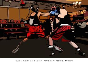 Me sparring