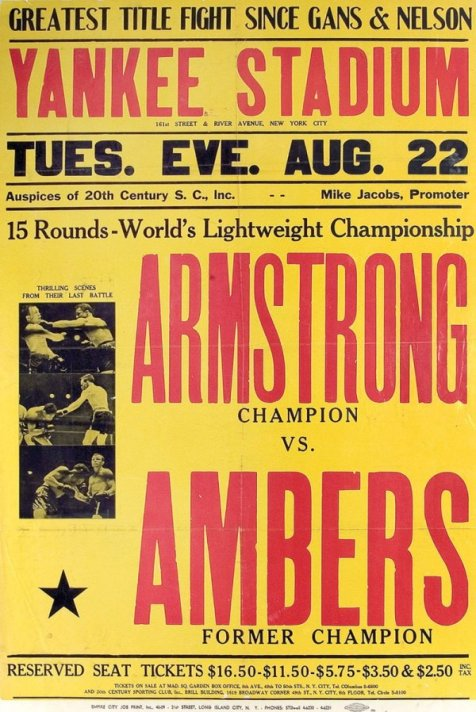 Armstrong vs. Ambers poster