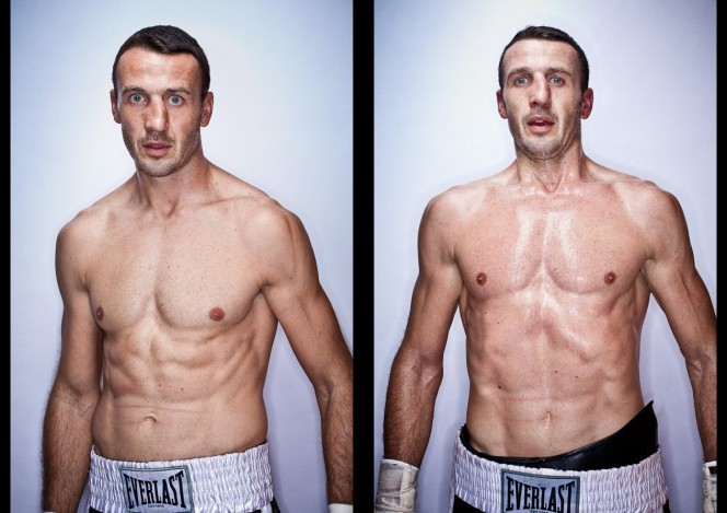 Before and after a boxing bout pics