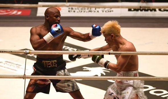 x floyd mayweather jr vs tenshin nasukawa