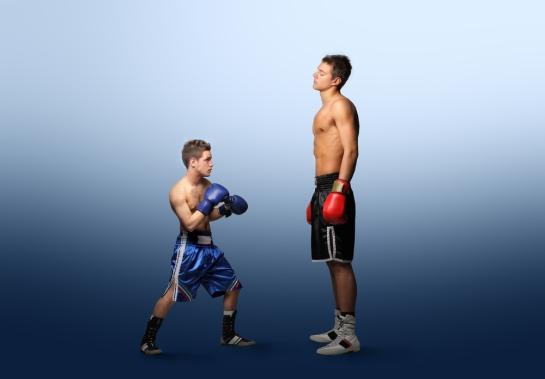 x tall vs. short boxer
